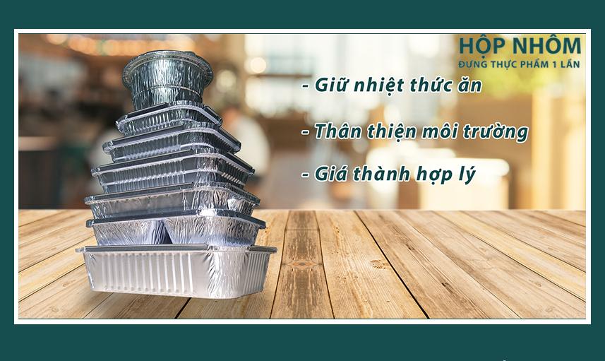 Hộp giấy bạc đảm bảo độ nóng của thức ăn lên đến 4H